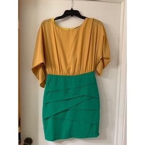 Dresses & Skirts - Mustard and Teal Green Dress